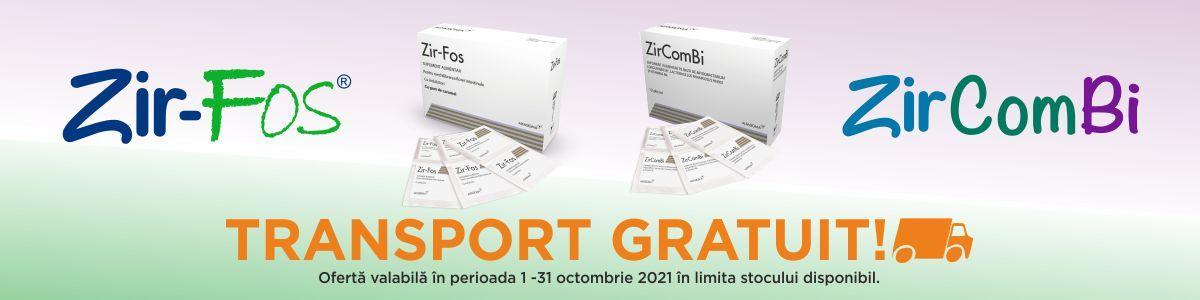 Promotie ZirFos ZirComBi Transport Gratuit Octombrie