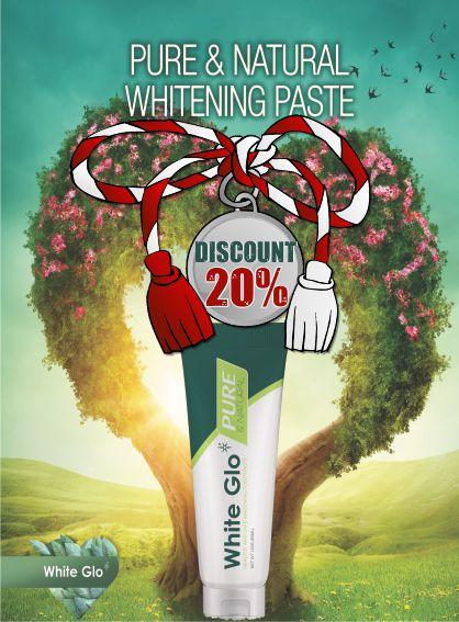 White Glo 20% 1-8 Martie