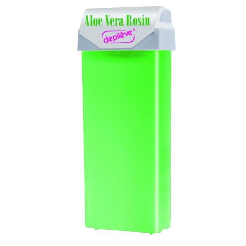 Ceară roll-on de unică folosință cu Aloe Vera Rosin, 100 ml, Depileve