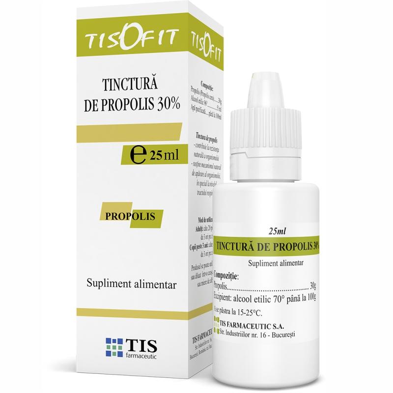 Tinctura de Propolis Tisofit, 25 ml, Tis Farmaceutic