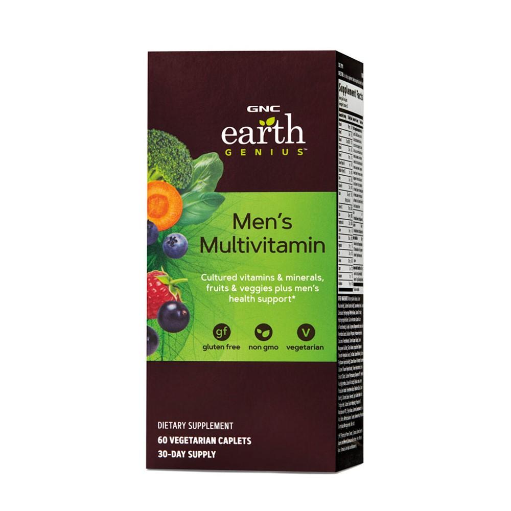 Multivitamine pentru bărbati Earth Genius 219111, 60 tablete, GNC