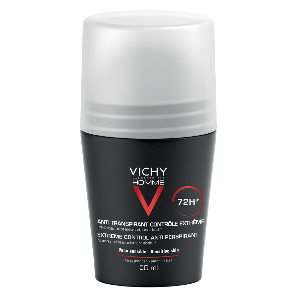 Deodorant roll-on antiperspirant control extrem pentru bărbați 72h, 50 ml, Vichy Homme