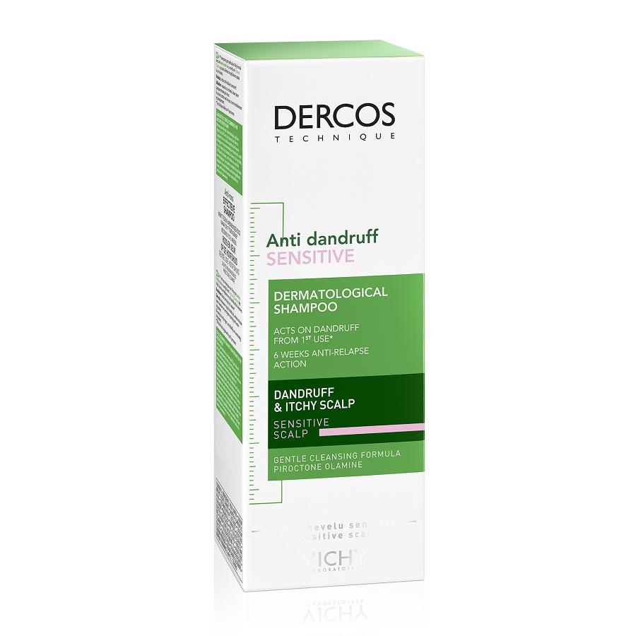 Şamponanti-mătreață pentru scalp sensibil Dercos Sensitive, 200 ml, Vichy