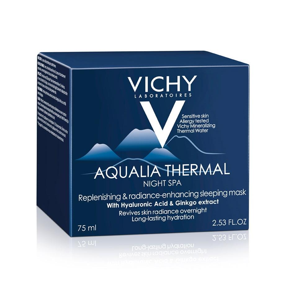 Gel-cremă hidratant de noapte cu efect anti-oboseala Aqualia ThermalSPA, 75 ml, Vichy