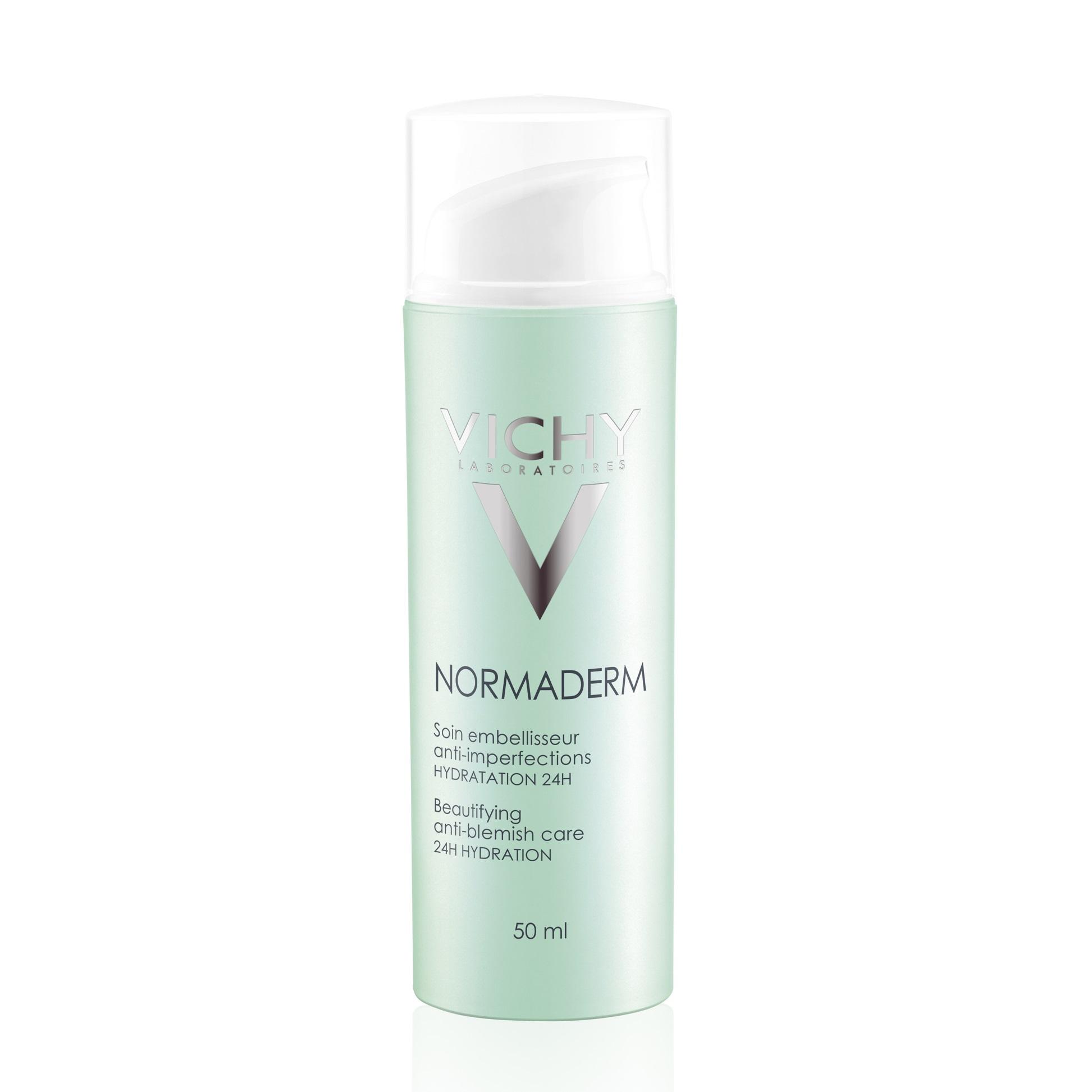Cremăhidratantăpentruîngrijirea tenului cu probleme cu efect de înfrumusețare Normaderm, 50 ml, Vichy