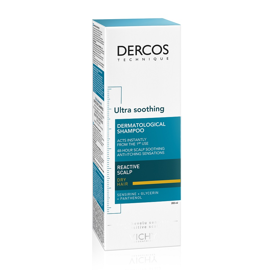 Șampon ultra calmant pentru păr uscat Dercos Ultra Soothing, 200 ml, Vichy