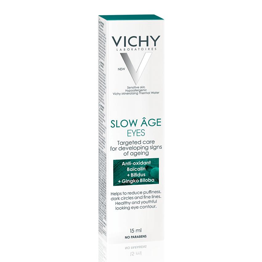 Cremă contur ochi pentru corectarea semnelor de îmbătrânire în curs de formare Slow Âge, 15 ml, Vichy