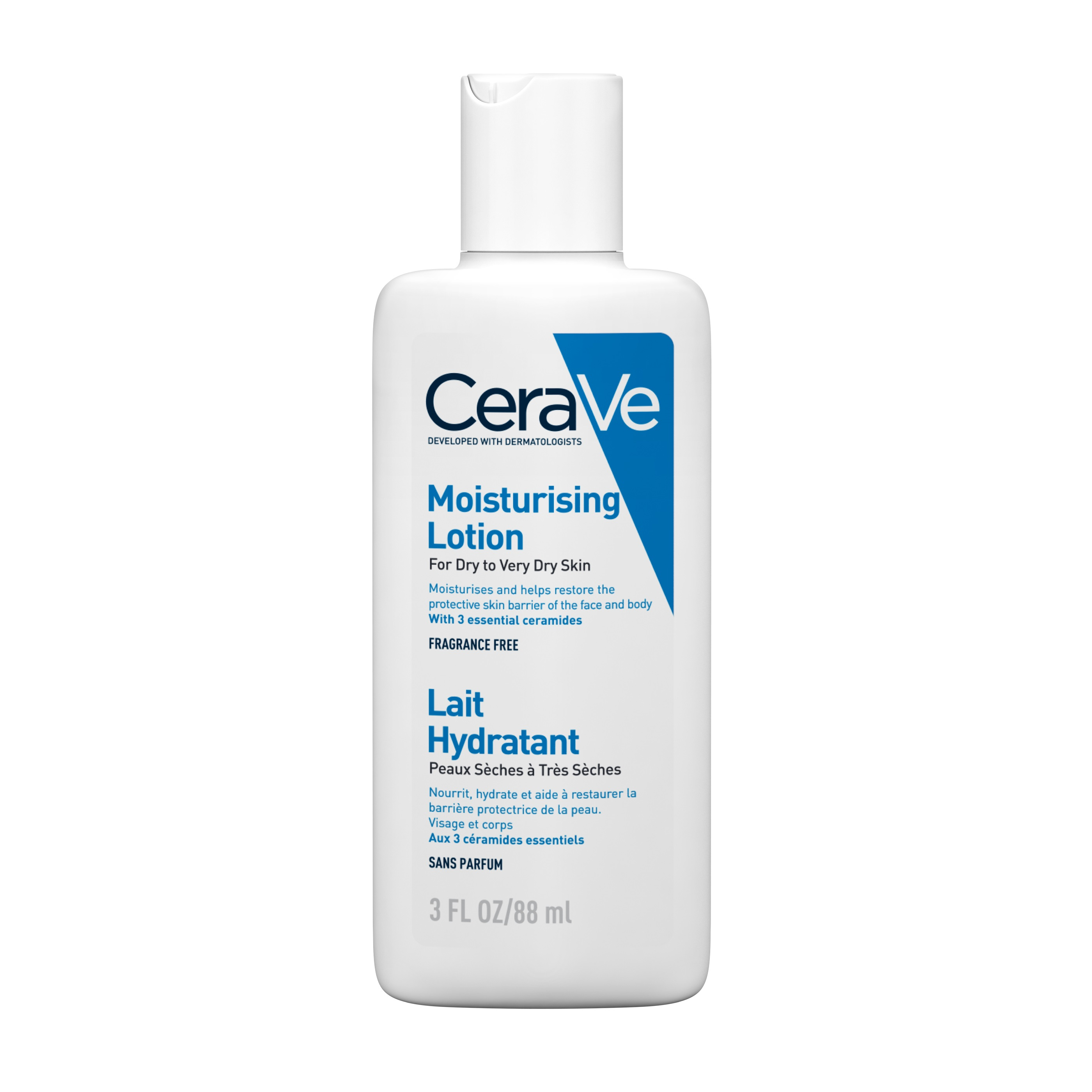 Loțiune hidratantă de față și corp pentru piele uscată și foarte uscată, 88 ml, CeraVe
