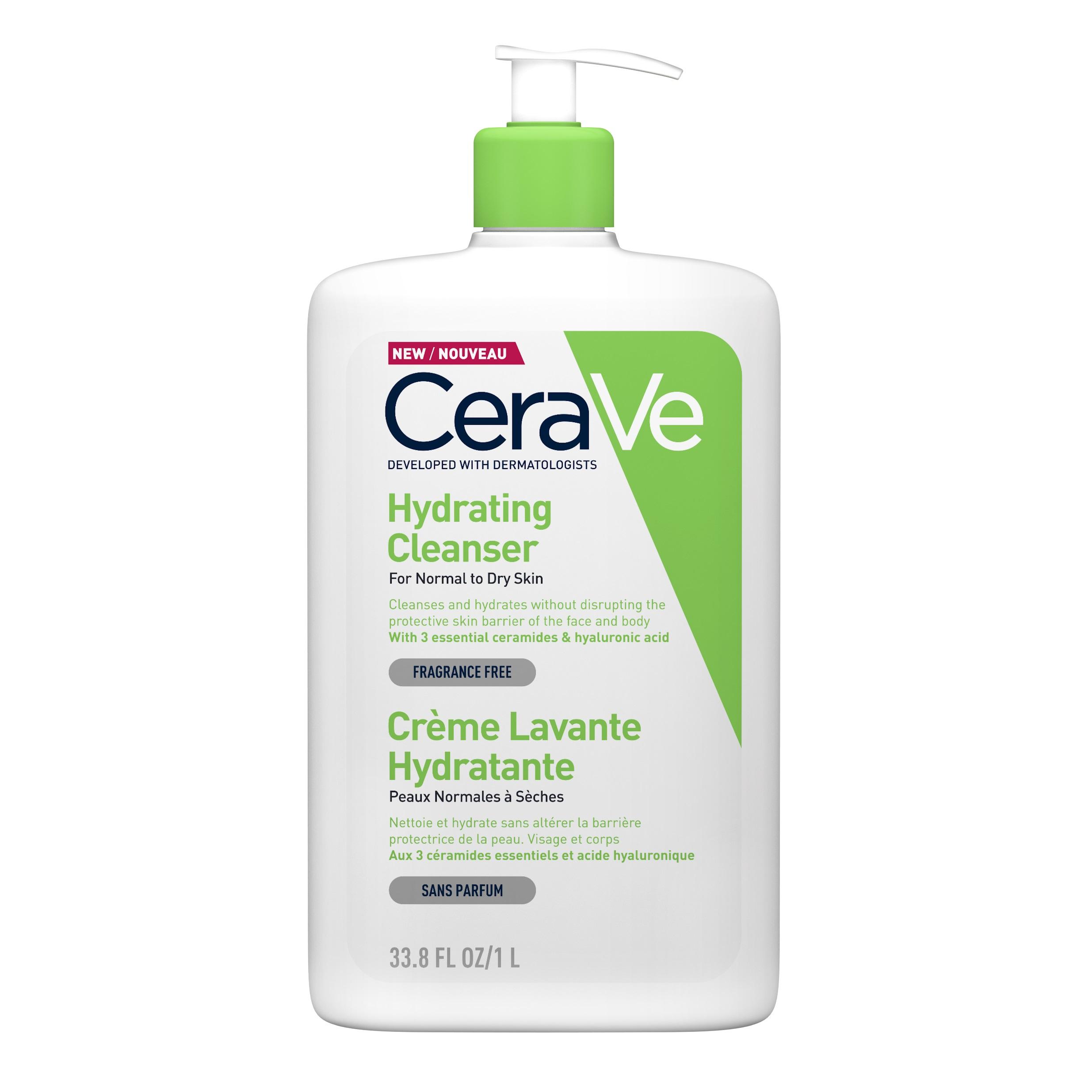 Gel de spălare hidratant pentru piele normal-uscată, 1000 ml, CeraVe