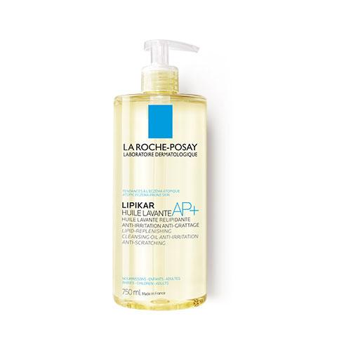 Ulei de spălare relipidant pentru pielea uscată cu tendință atopică Lipikar AP+, 750 ml, La Roche-Posay