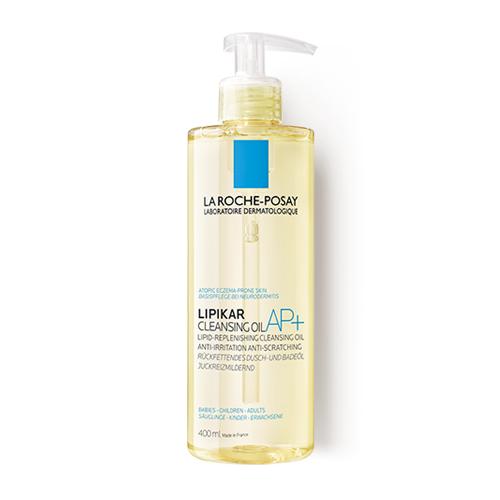 Ulei de spălare relipidant pentru pielea uscată cu tendință atopică Lipikar AP+, 400 ml, La Roche-Posay