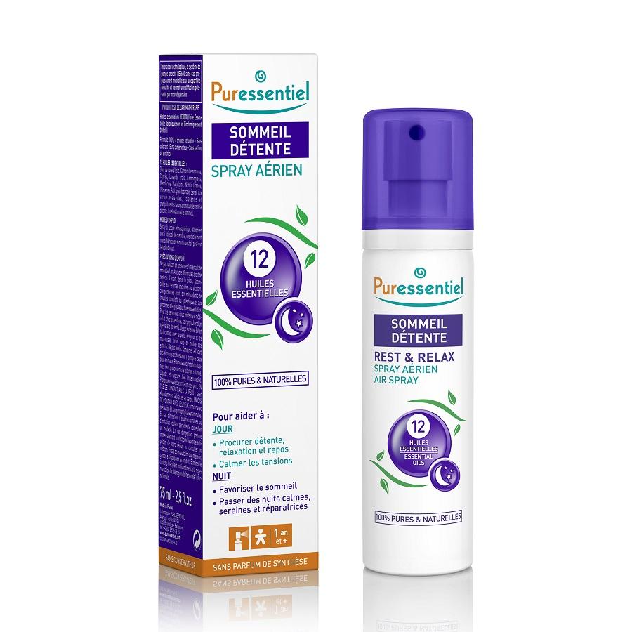 Spray aerian cu 12 uleiuri esențiale, 75 ml, Puressentiel