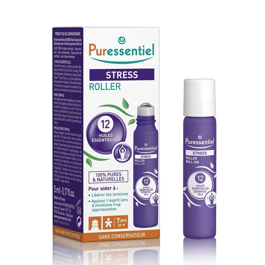 Roll-on antistres cu 12 uleiuri esențiale, 5 ml, Puressentiel