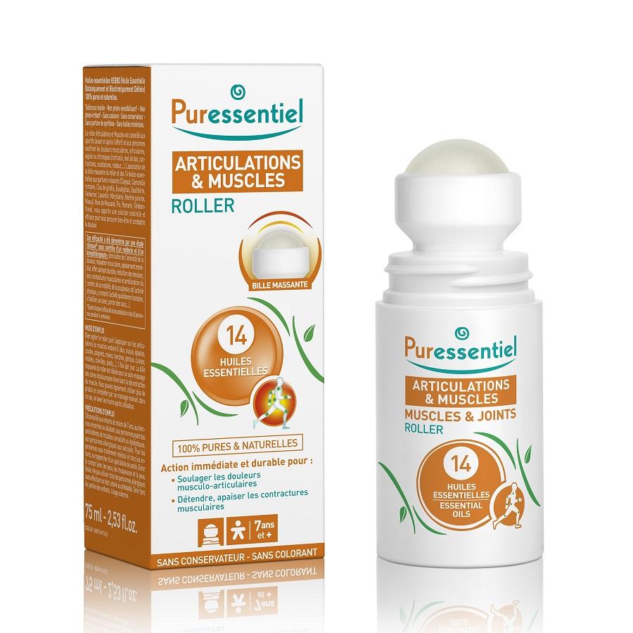 Roller antireumatic cu 14 uleiuri esențiale, 75 ml, Puressentiel