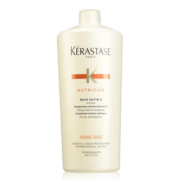 Șampon pentru păr uscat Nutritive Irisome Bain Satin 2, 1000 ml, Kerastase