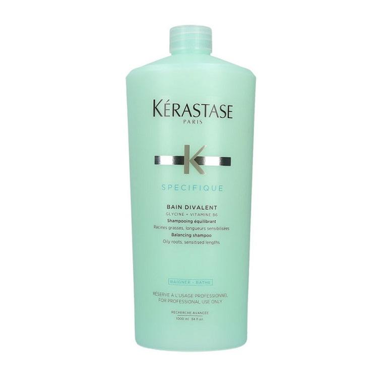 Sampon echilibrant pentru rădăcini grase și lungimi sensibilizate Specifique Bain Divalent, 1000 ml, Kerastase