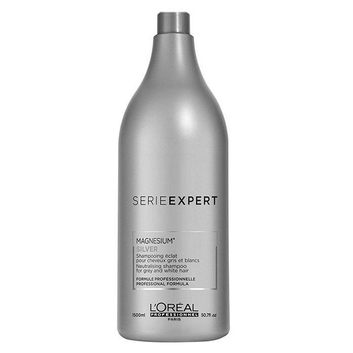 Sampon neutralizator pentru parul gri sau alb Silver Magnesium, 1500 ml, Loreal Professionnel
