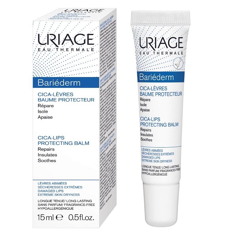 Balsam reparator de buze Bariederm, 15 ml, Uriage