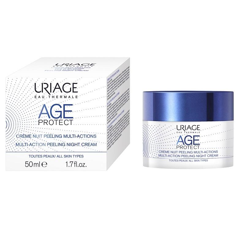 Cremă de noapte peeling antiaging Age Protect, 50 ml, Uriage
