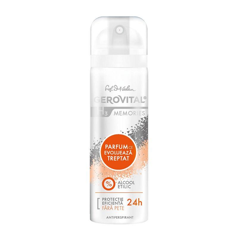 Antiperspirant Memories Gerovital H3, 150 ml, Farmec