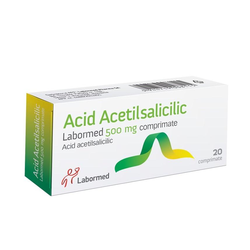 Acid Acetilsalicilic, 20 comprimate, Labormed