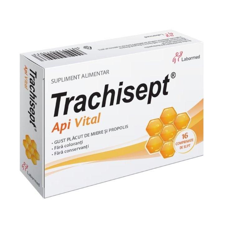 Trachisept Api Vital, 16 comprimate, Labormed