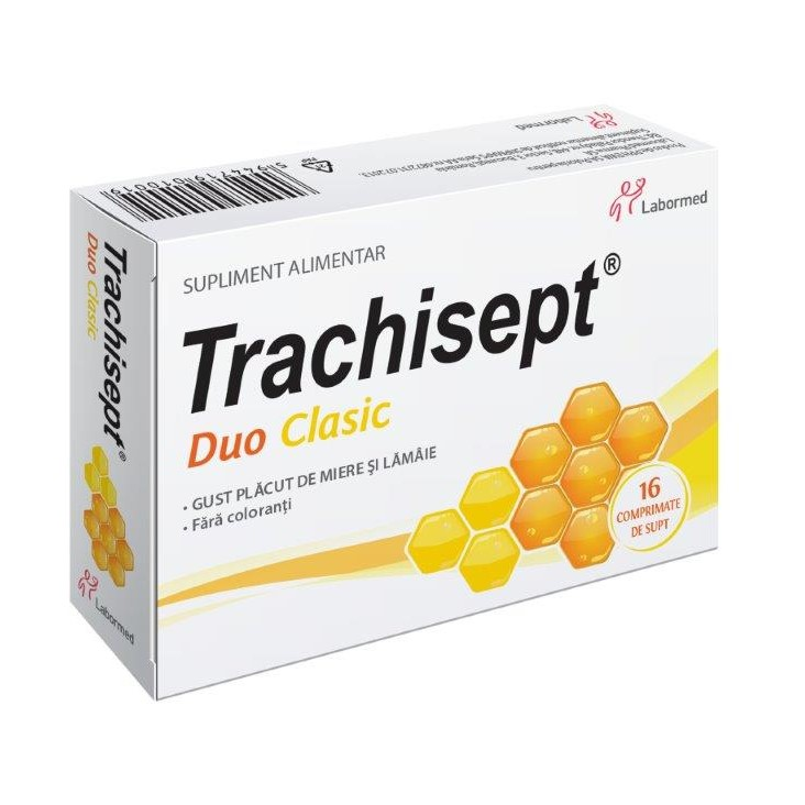 Trachisept Duo Clasic, 16 comprimate, Labormed