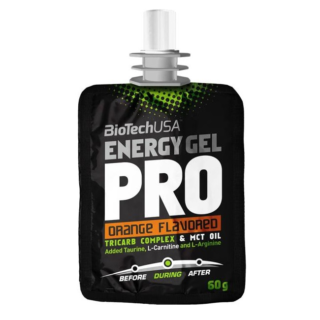 Energy Gel Pro Orange, 60 g, Biotech USA