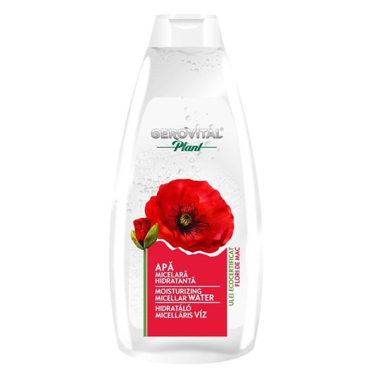 Apă micelară hidratantă cu flori de mac Gerovital Plant, 400 ml, Farmec