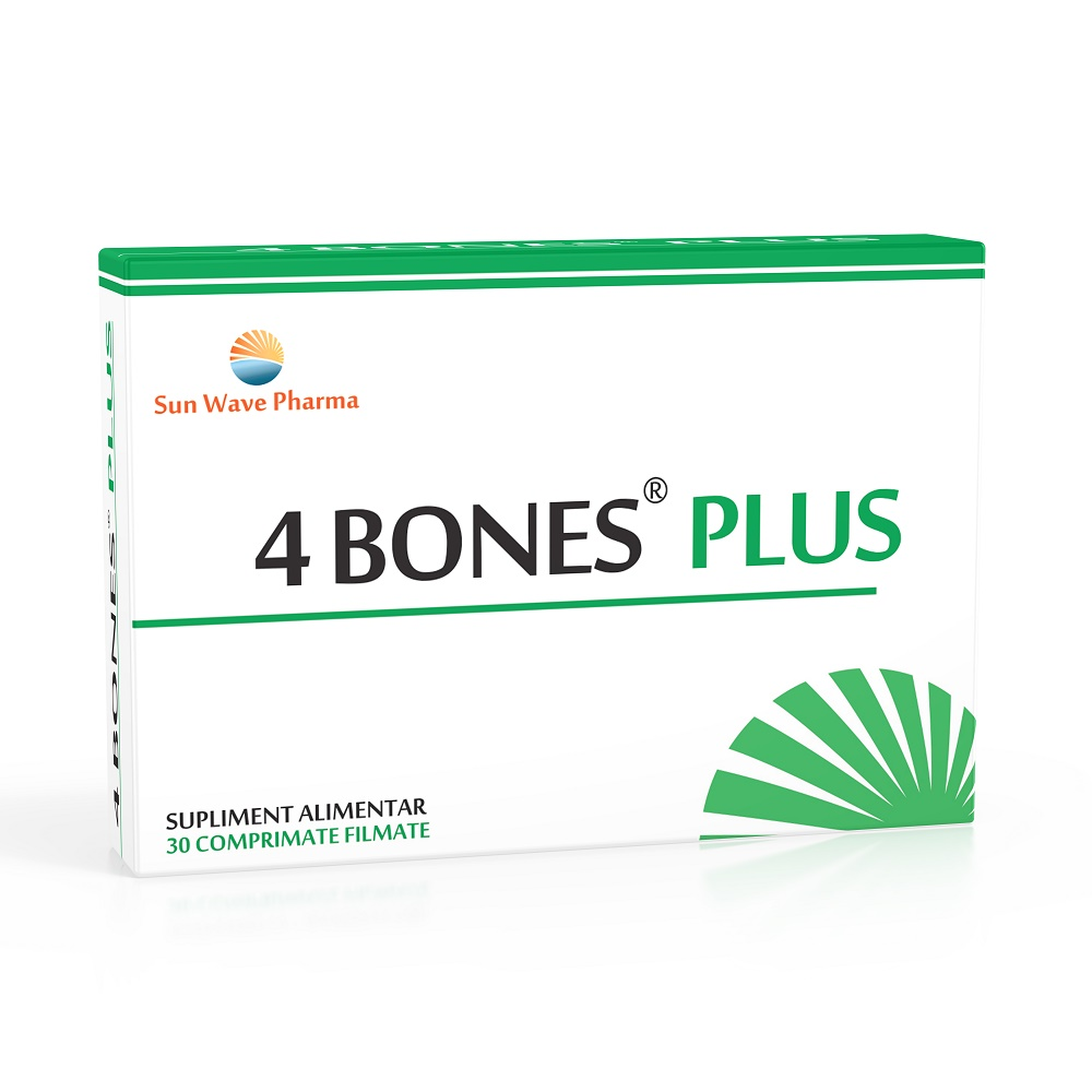 4 Bones Plus, 30 comprimate, Sun Wave Pharma