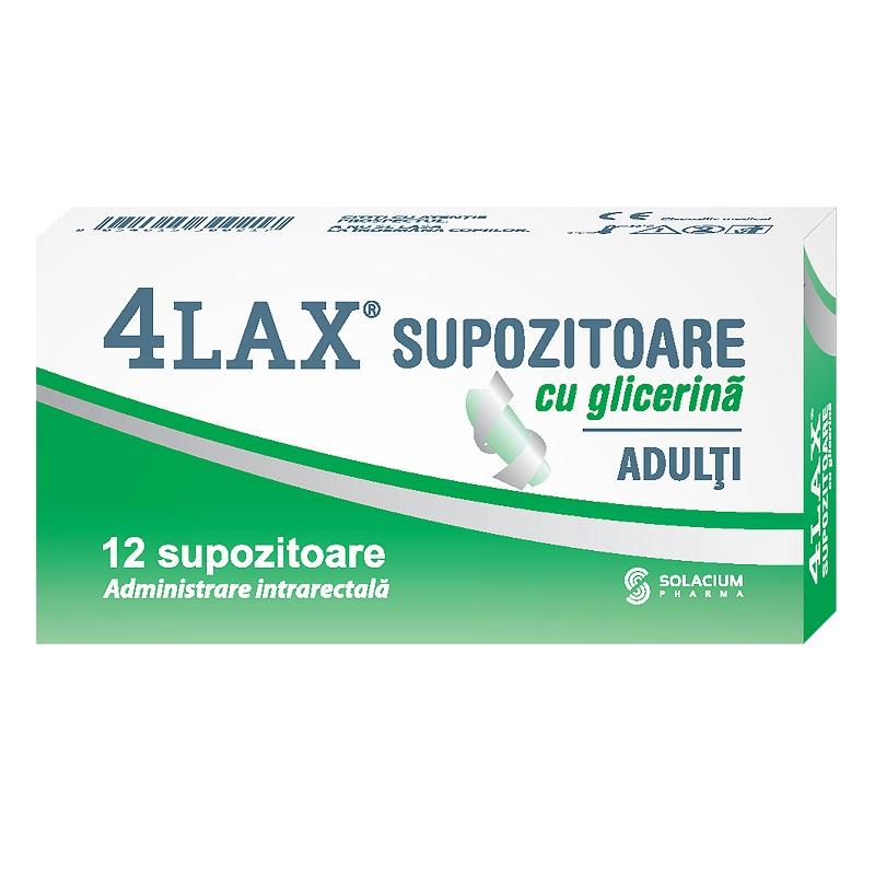 Supozitoare cu glicerina pentru adulti 4Lax, 12 bucati, Solacium Pharma