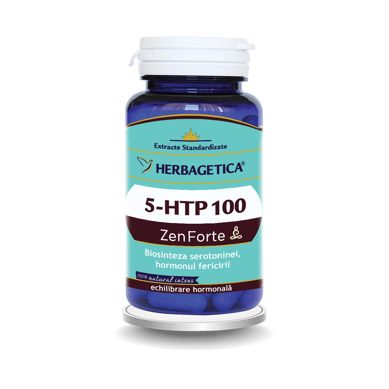 5 HTP 100 Zen Forte, 30 capsule, Herbagetica