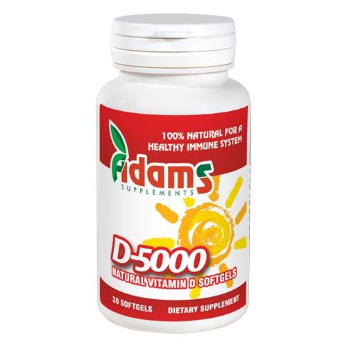 Vitamina D-5000, 30 capsule, Adams Vision