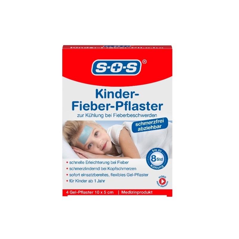 Plasture impotriva febrei la copii SOS 10 cm x 5 cm, 4 bucati, Dr. Kleine