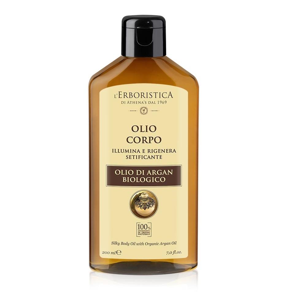 Ulei regenerant pentru corp cu ulei de argan, semințe de in și migdale dulci, 200 ml, L'Erboristica