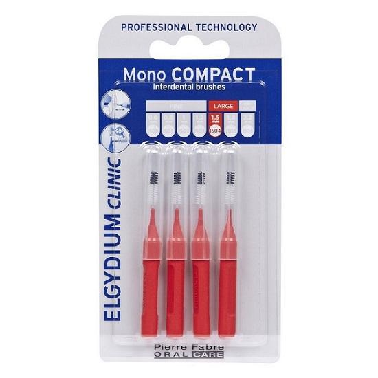 Periute interdentare Mono Compact Red, 4 bucati, Elgydium