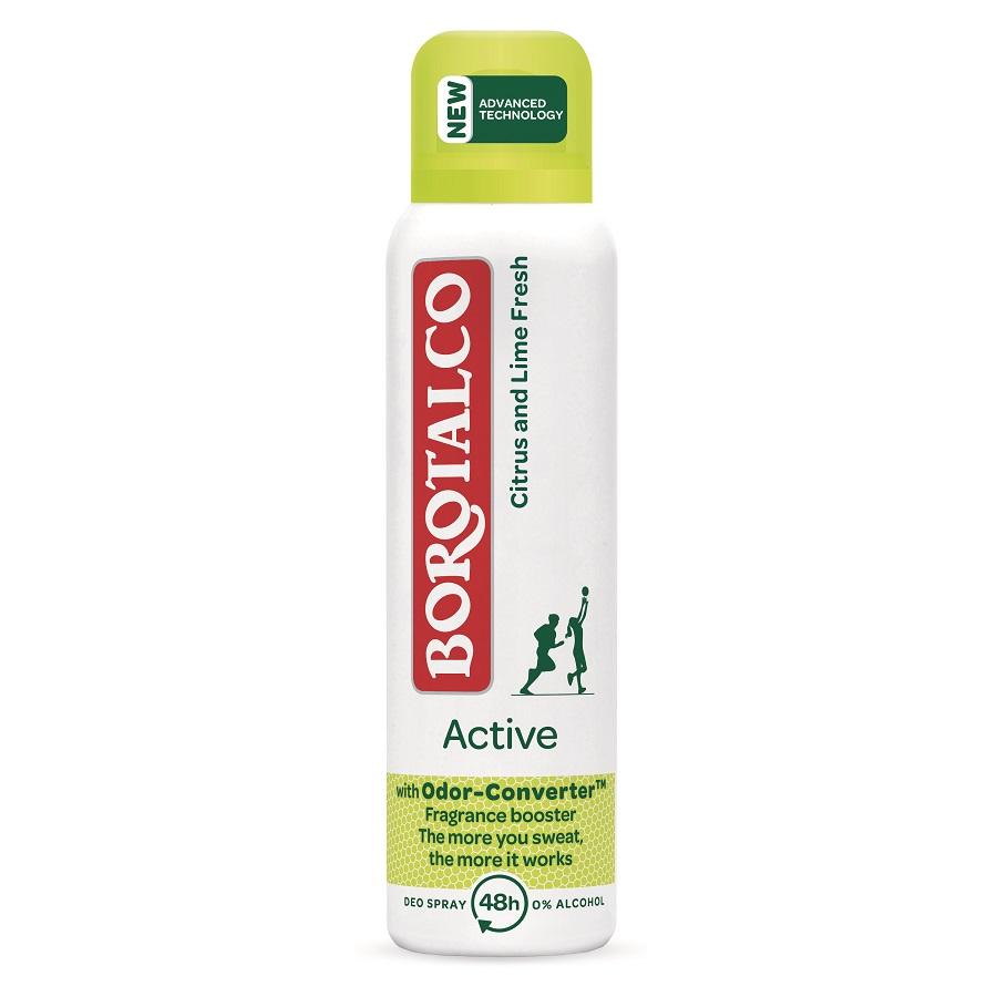 Deodorant spray Active Citrus and Lime, 150 ml, Borotalco