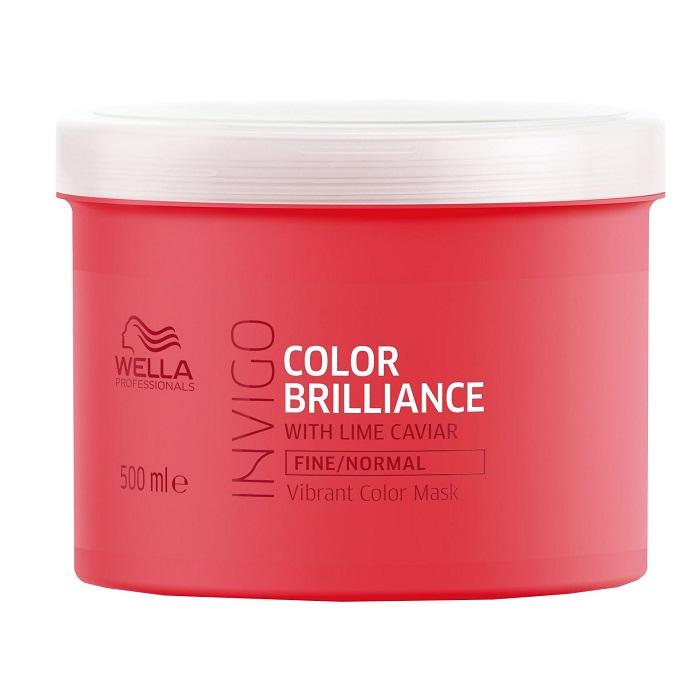 Masca pentru par vopsit Invigo Color Brilliance Fine-Normal, 500 ml, Wella Professionals