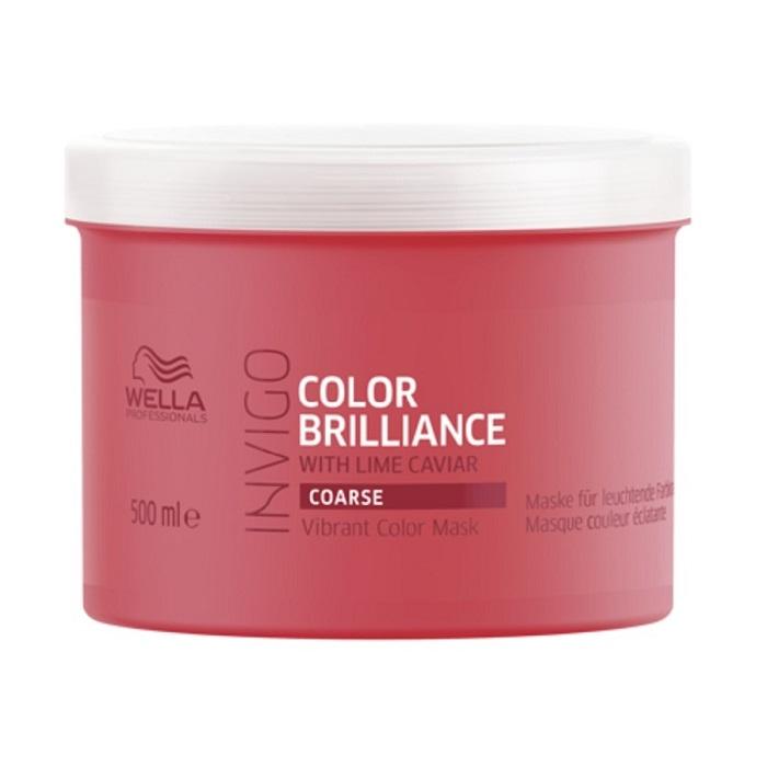 Masca pentru par vopsit Invigo Color Brilliance Coarse, 500 ml, Wella Professionals