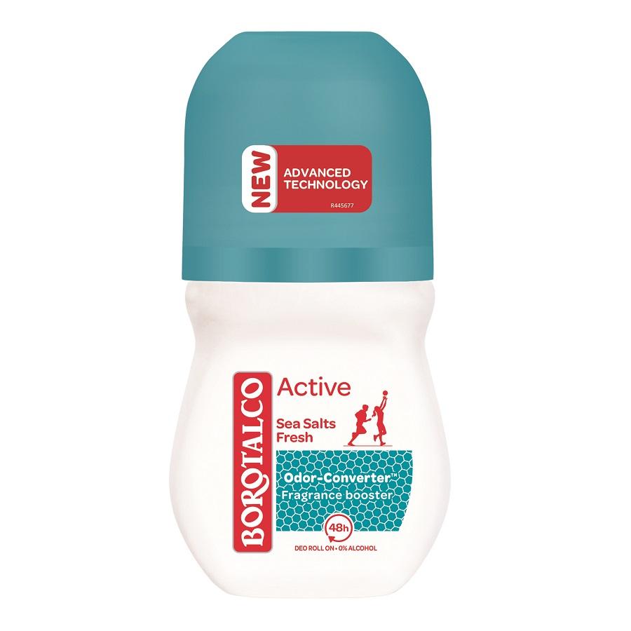 Deodorant roll-on Active Sea Salts, 50 ml, Borotalco
