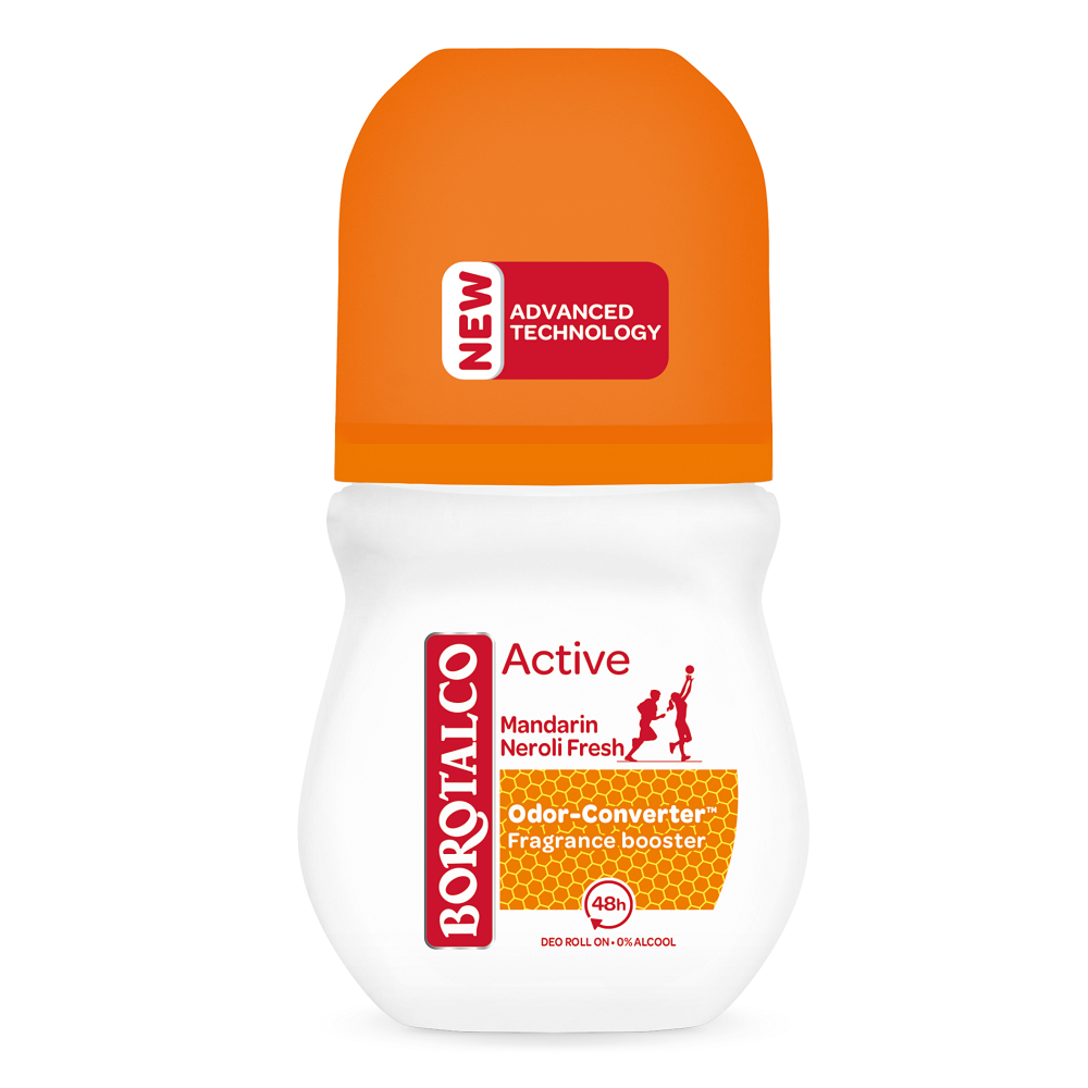 Deodorant roll-on Active Mandarine si Neroli, 50 ml, Borotalco