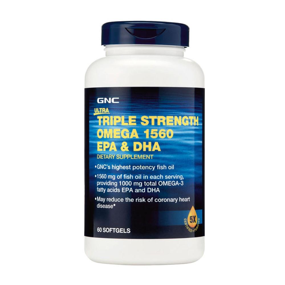 Triple Strenghth Omega 1560 mg EPA & DHA (893322), 60 capsule, GNC