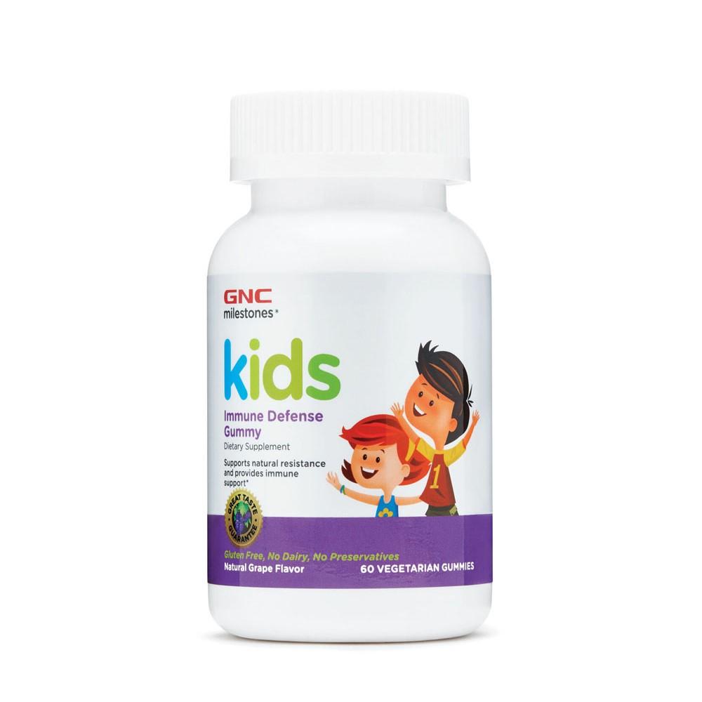 Jeleuri cu aromă de struguri pentru copii 4 - 12 ani Immune Defense (981313), 60 jeleuri, Gnc