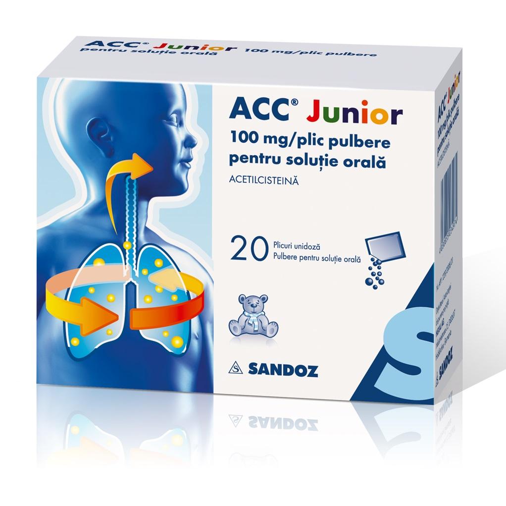 Acc Junior 100, 20 plicuri, Sandoz