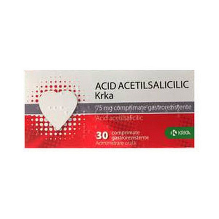 Acid acetilsalicilic 100 mg, 30 comprimate, Krka