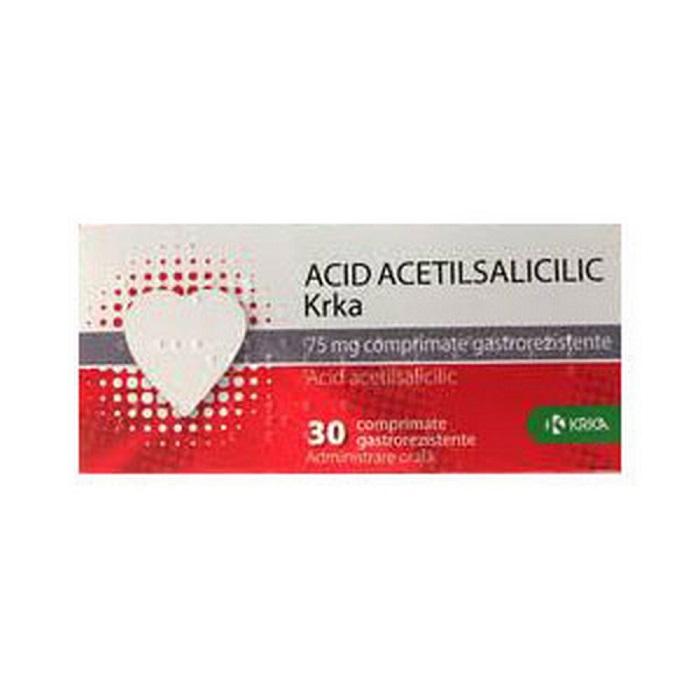Acid acetilsalicilic 75 mg, 30 comprimate, Krka