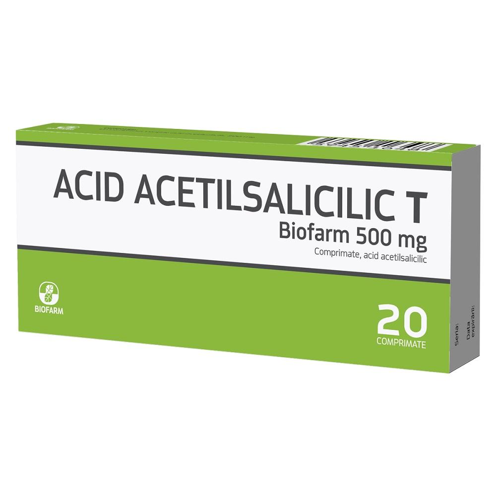 Acid Acetilsalicilic T, 20 comprimate, Biofarm