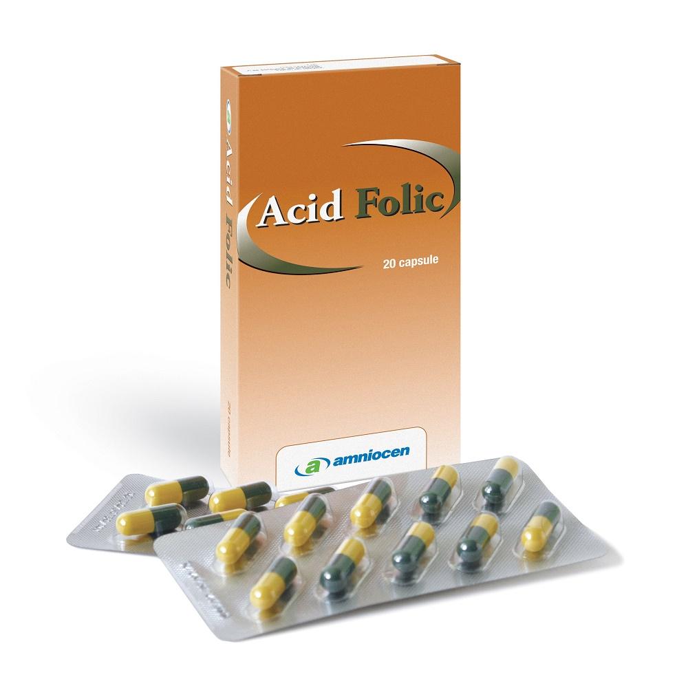 Acid Folic, 20 capsule, Amniocen