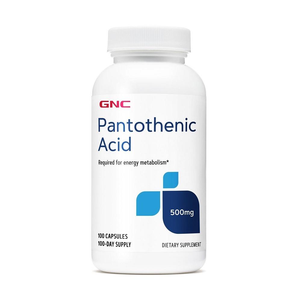 Acid Pantotenic 500 mg (100413), 100 capsule, GNC
