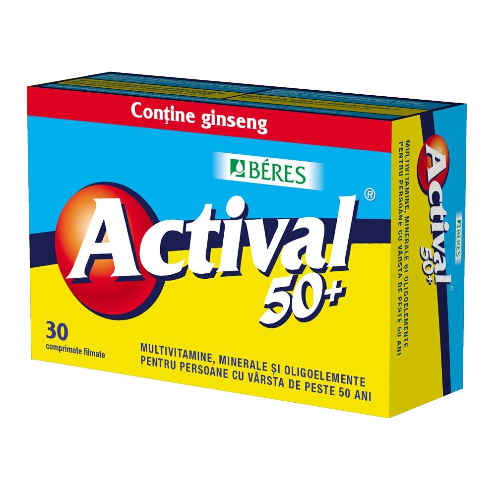 Actival 50, 30 comprimate, Beres Pharmaceuticals Co